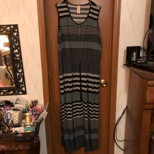 Jersey black and grey maxi